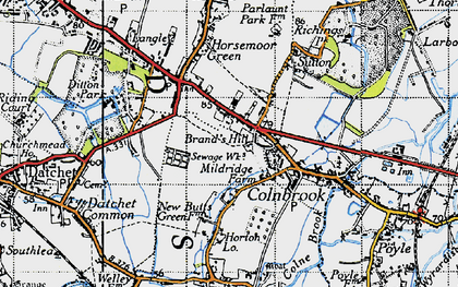 Old map of Brands Hill in 1945