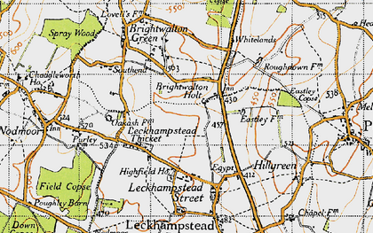 Old map of Brightwalton Holt in 1947