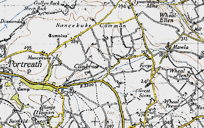 Old map of Cambrose in 1946