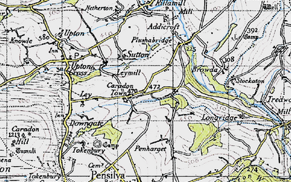 Old map of Caradon Town in 1946