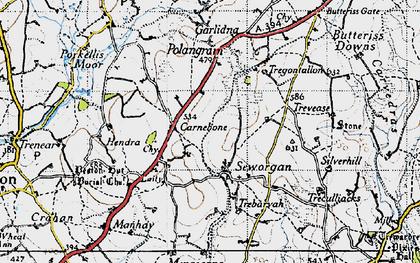 Old map of Carnebone in 1946
