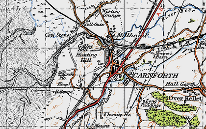 Old map of Carnforth in 1947