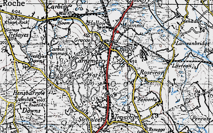 Old map of Carnsmerry in 1946