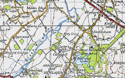 Old map of Carter's Hill in 1940