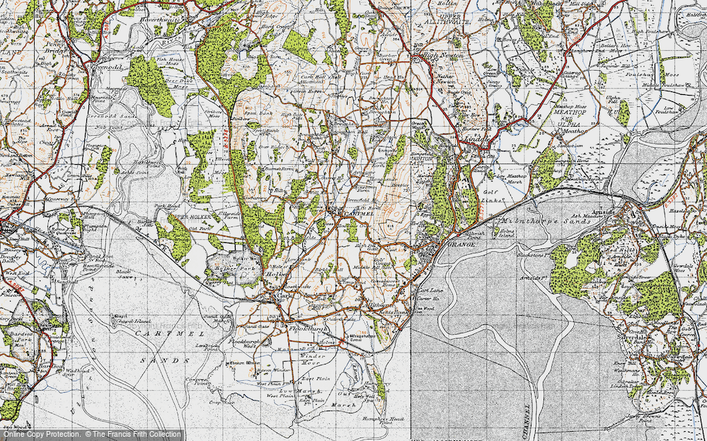 Old Map of Map of Cartmel in 1947