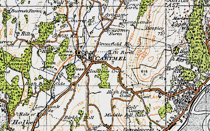 Old map of Cartmel in 1947