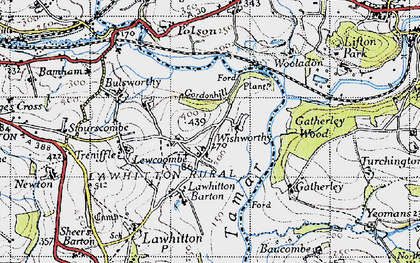 Old map of Carzantic in 1946