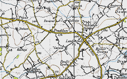 Old map of Carzise in 1946