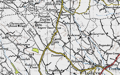 Old map of Castle Gate in 1946