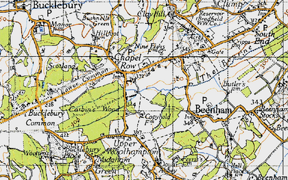 Old map of Chapel Row in 1945