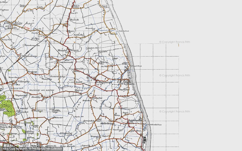 Map of Chapel St Leonards in 1946