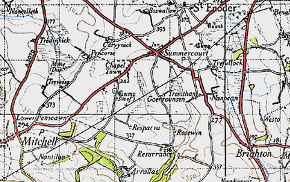 Old map of Chapel Town in 1946