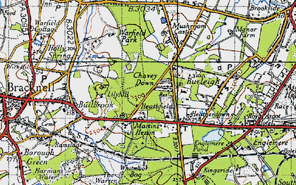 Old map of Chavey Down in 1940