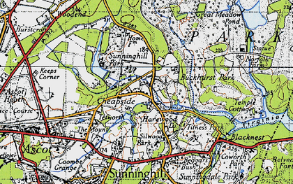 Old map of Cheapside in 1940