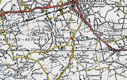 Old map of Church Coombe in 1946