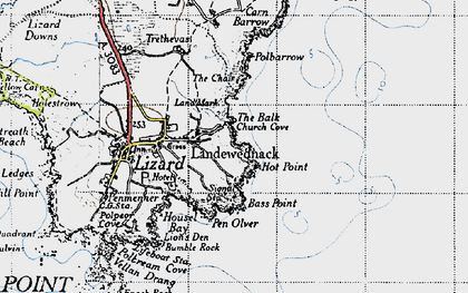 Old map of Church Cove in 1946