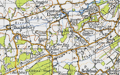 Old map of Clay Hill in 1945