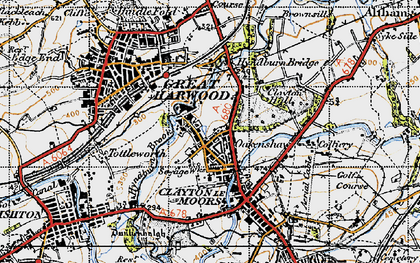 Old map of Clayton-Le-Moors in 1947