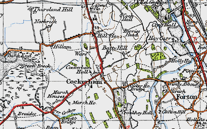 Old map of Cockerham in 1947