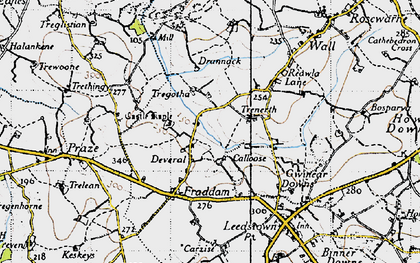 Old map of Deveral in 1946