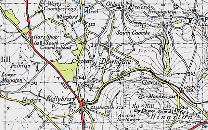 Old map of Downgate in 1946
