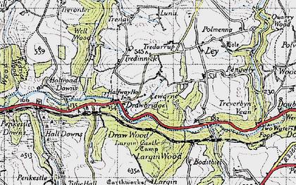 Old map of Drawbridge in 1946
