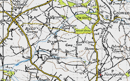 Old map of Drym in 1946