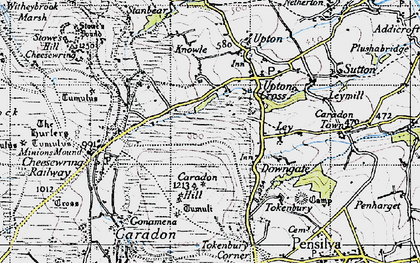 Old map of Dunslea in 1946