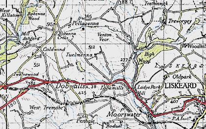 Old map of East Tuelmenna in 1946