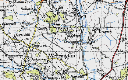 Old map of Eggbeare in 1946