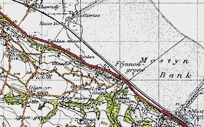Old map of Ffynnongroyw in 1947