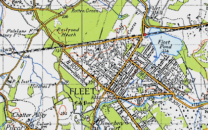 Old map of Fleet in 1940