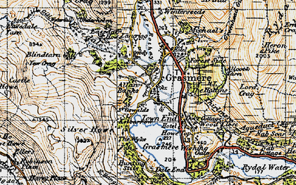 Old map of Grasmere in 1947