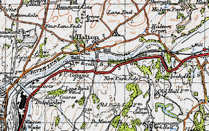 Old map of Halton in 1947