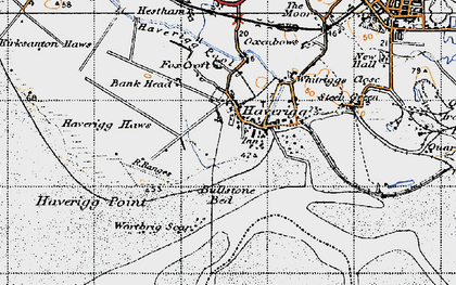 Old map of Haverigg in 1947