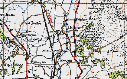 Old map of Holme in 1947
