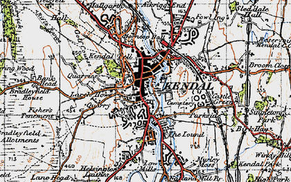Old map of Kendal in 1947