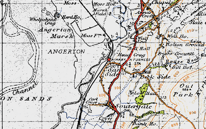 Old map of Kirkby-in-Furness in 1947