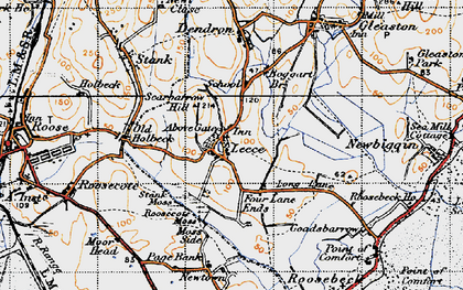 Old map of Leece in 1947