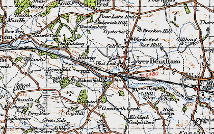 Old map of Low Bentham in 1947