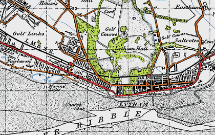 Old map of Lytham in 1947