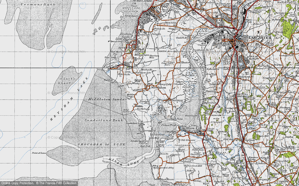 Old Map of Map of Middleton in 1947