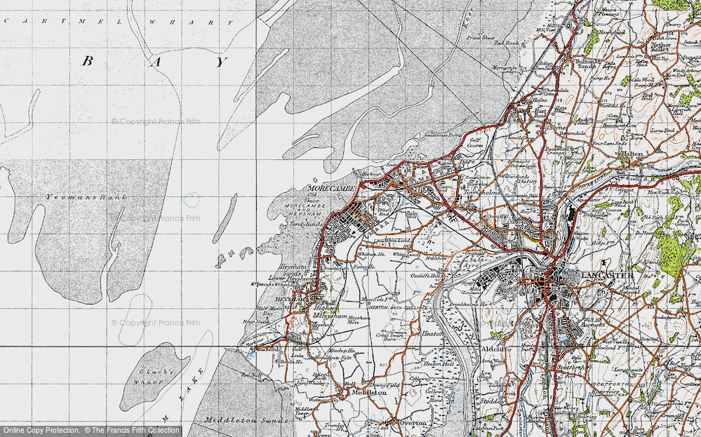 Old Map of Map of Morecambe in 1947