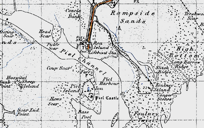 Old map of Roa Island in 1947