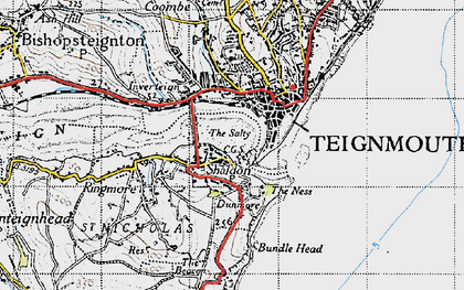 Old map of Shaldon in 1946