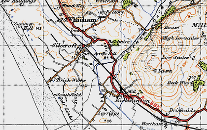 Old map of Silecroft in 1947