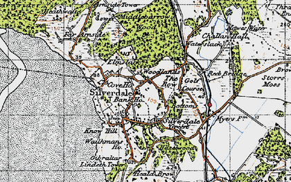 Old map of Silverdale in 1947