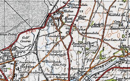 Old map of Slyne in 1947