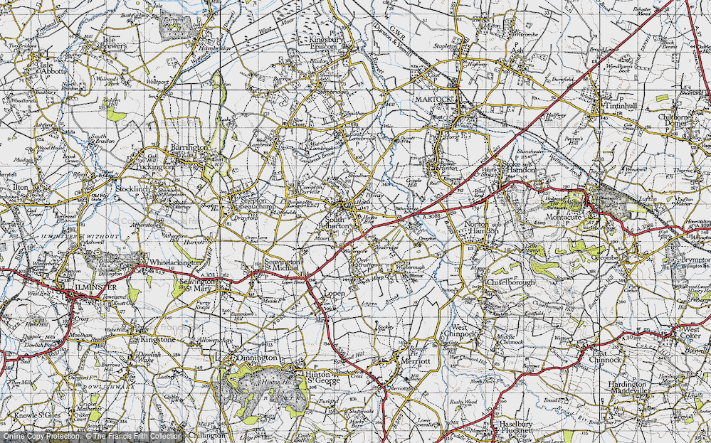 Old Map of Map of South Petherton in 1945