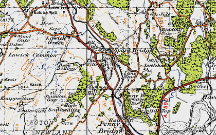Old map of Spark Bridge in 1947